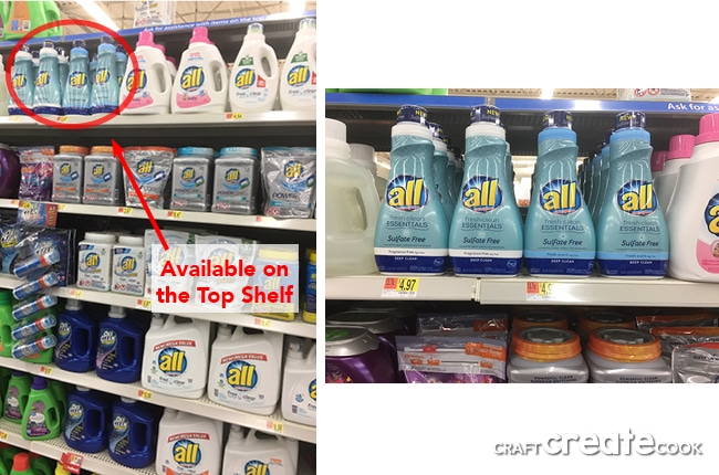 laundry detergent available at walmart