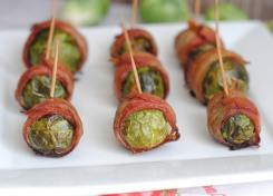 Keto Friendly bacon wrapped brussels sprouts are easy and delicious!