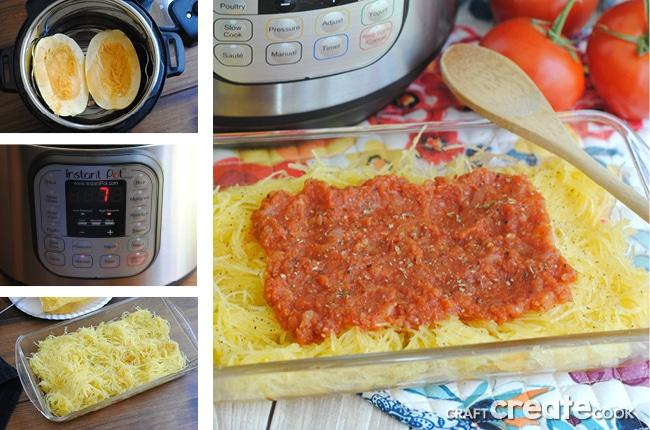 Instant Pot Squash & Homemade Marinara Sauce
