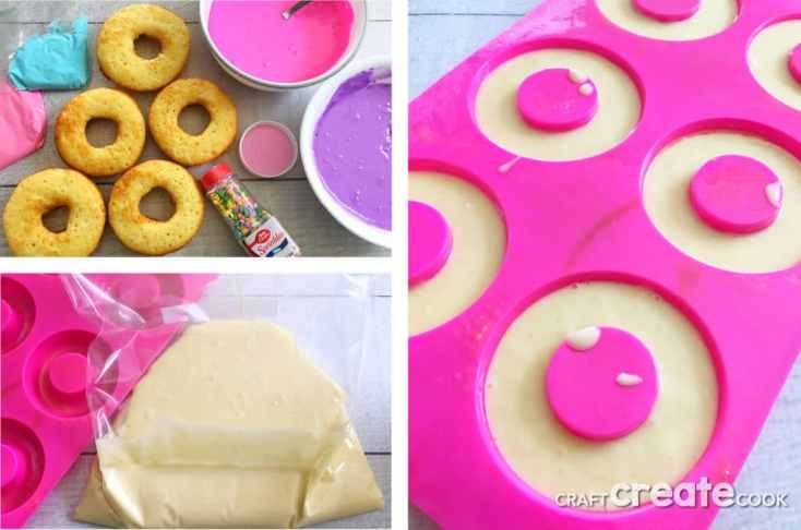 Colorful Unicorn Cake Donuts