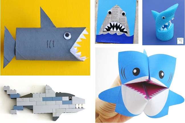 These 20 jawsome shark crafts and activities are perfect for shark week!