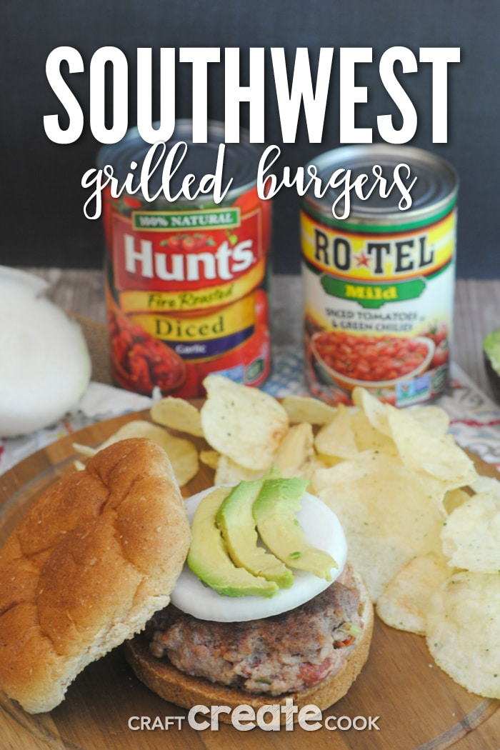 Southwest grilled burgers are the perfect twist on an American classic!