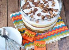 A chocolate peanut butter trifle is easy to make, feeds a crowd and you'll hardly have any leftovers!