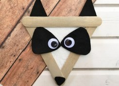 Our Raccoon Craft for Kids is a perfect indoor craft activity for a chilly Fall day!