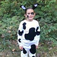 No Sew Kids Cow Costume