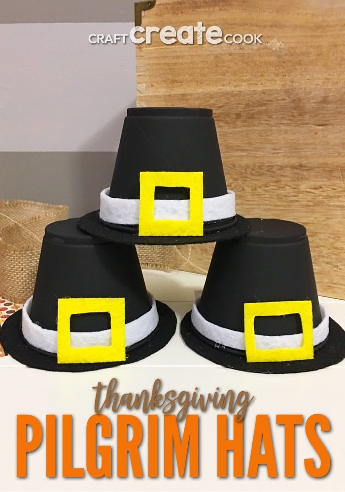 Our Thanksgiving Pilgrim Hat Kids Craft is easy to make and only takes a few materials.