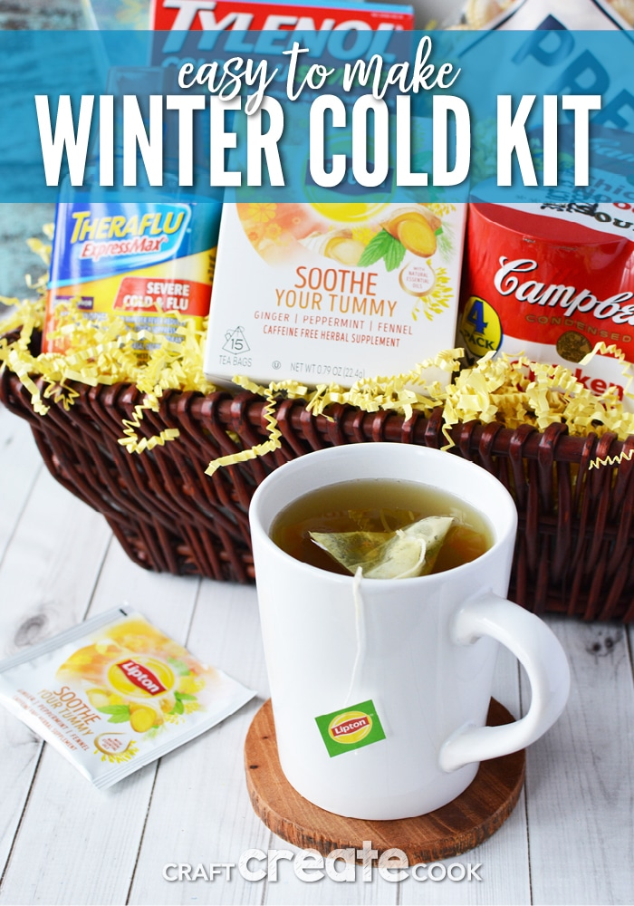 With the changing seasons, this winter cold kit is perfect for someone who is under the weather.