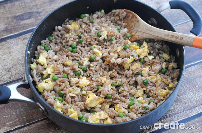 Homemade Fried Rice is easy to make make and perfect for using up leftovers!