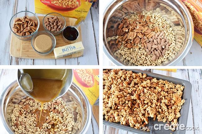 Baked Honey Nut Snack Mix Recipe