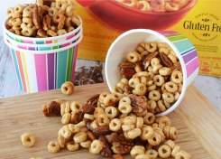 Our baked honey nut snack mix recipe will be a big hit with your family!