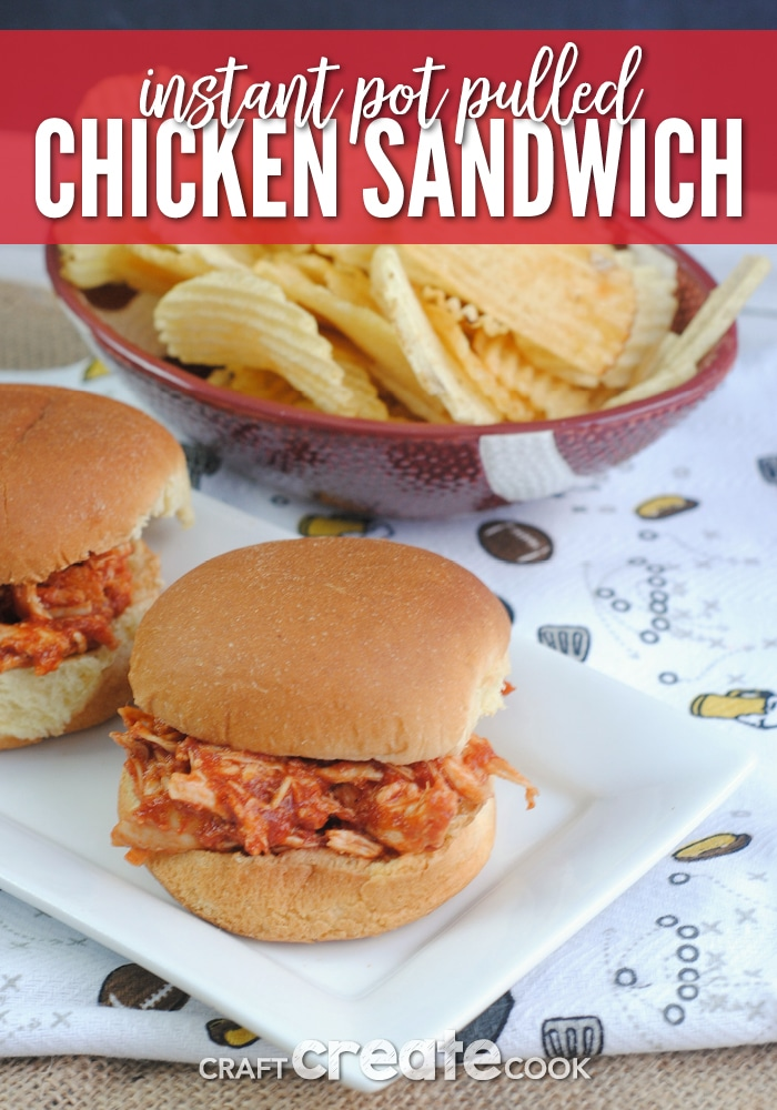 Instant Pot Pulled Chicken Sliders are perfect for game day!