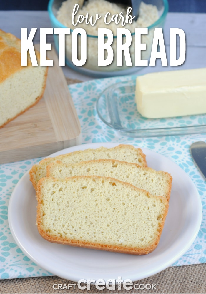 This low carb keto bread recipe is my go to recipe when I crave carbs.