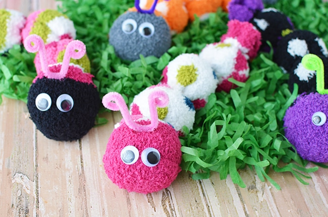 Sock Caterpillars Easy Kids Craft To Make And Sell Craft Create Cook
