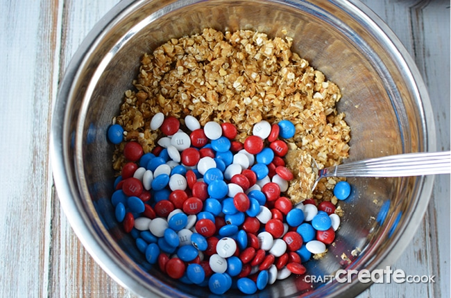 Our Red, White and Blue Brownies will be gone before you know it at your next outdoor BBQ!