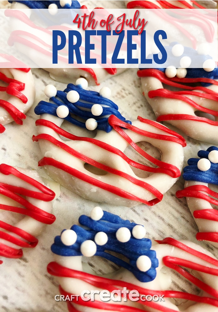 These 4th of July Pretzels are the perfect festive treat for a busy 4th of July day.