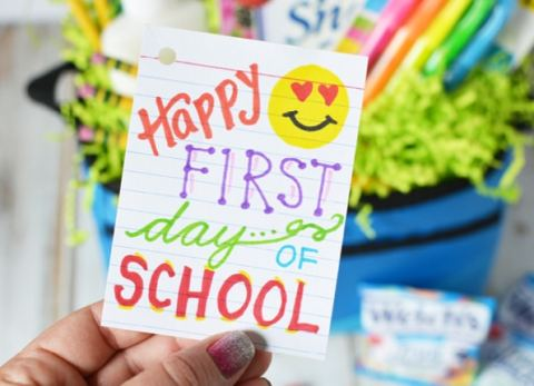 Surprise your kids with a fun back to school basket with items they need a love to start the school year off right!