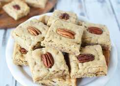 Semi-homemade and easy to make chewy butter pecan bars will disappear in no time!
