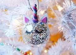 You'll bring a smile and sparkle to someone's life with these simple DIY Unicorn Ornaments!