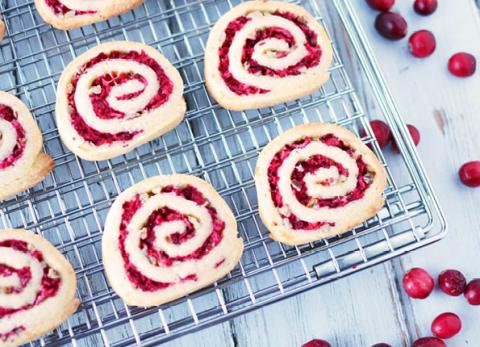 Cranberry pinwheel slice and bake cookies are soon to be a holiday favorite in your home!