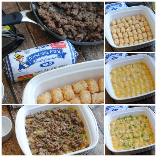 This sausage; tator tot breakfast casserole is perfect for weekend mornings!