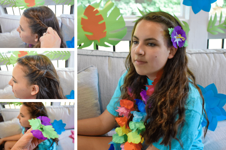 luau party hairstyles