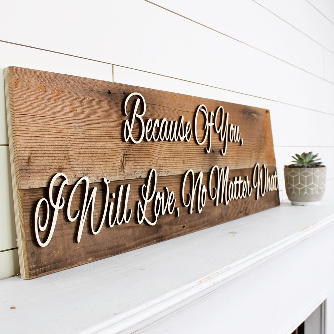 62 reclaimed wood signs for the home