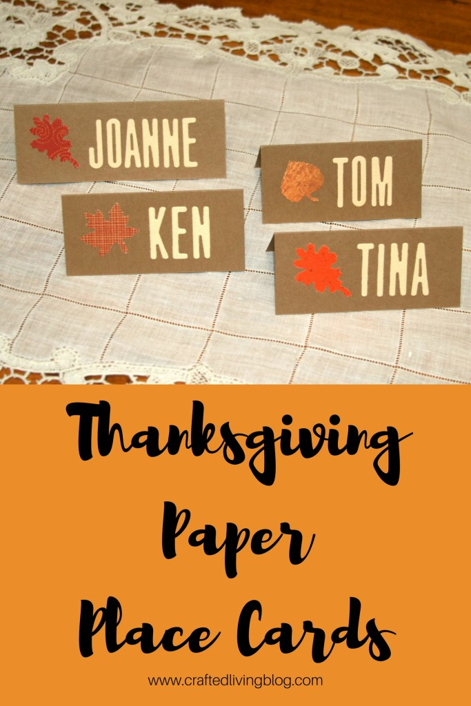 Thanksgiving Paper Place Cards #thanksgivingplacecards #fallplacecards #thanksgivingdecorideas #thanksgivingdiy #thanksgivingtable