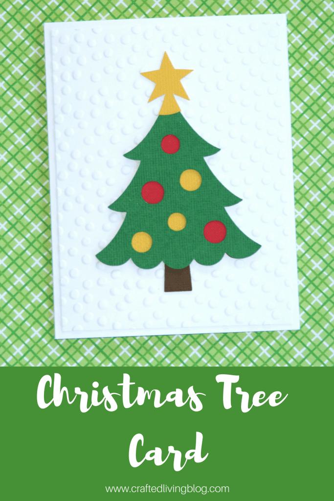 Christmas Tree Card #cricutcards #handmadecards #christmascards #cardmaking