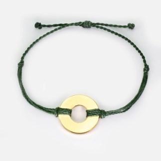refill twist bracelet green gold