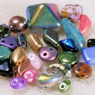Czech Glass Two Hole Beads