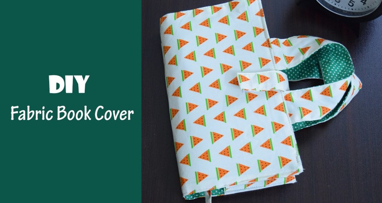 DIY Fabric Book Cover Bag