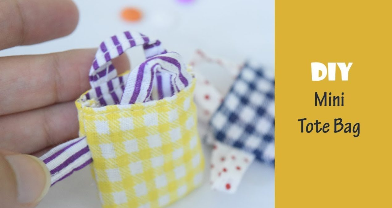 DIY 5 minutes cute little Tote Bags from Scrap Fabric