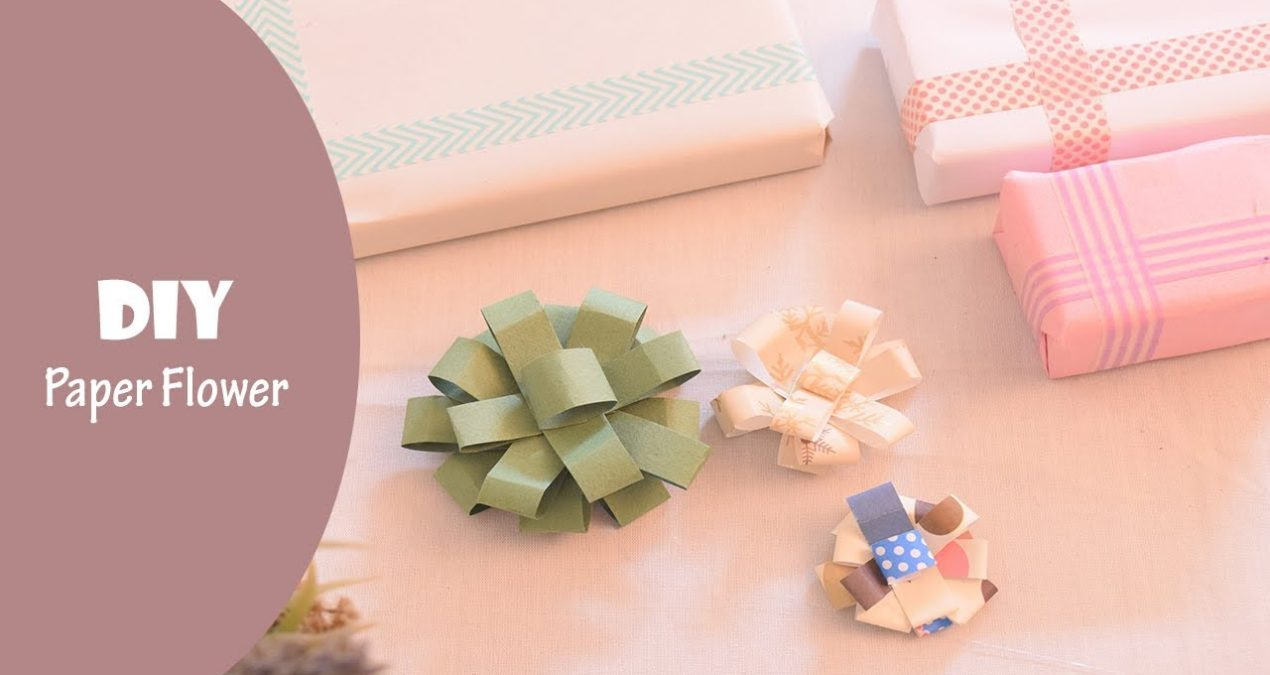 DIY Paper Flowers for Gift Wrapping