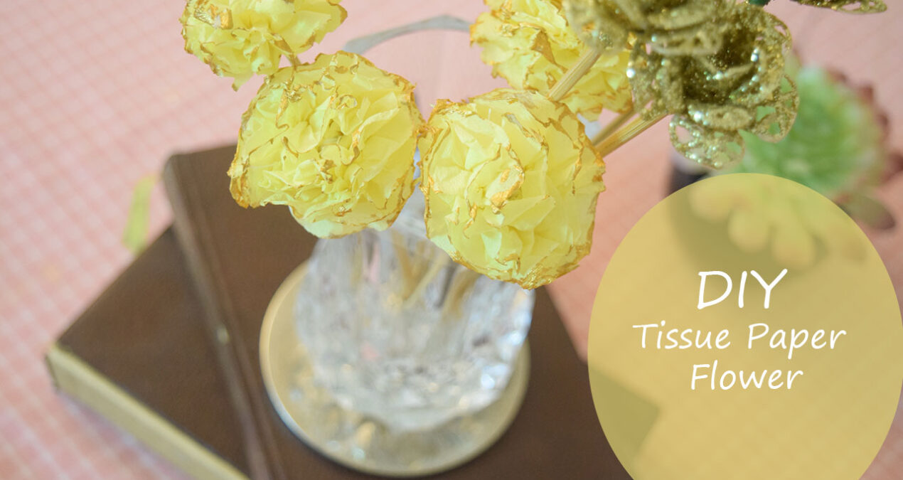 DIY Tissue or Crepe Paper Flowers- Super easy and quick to make