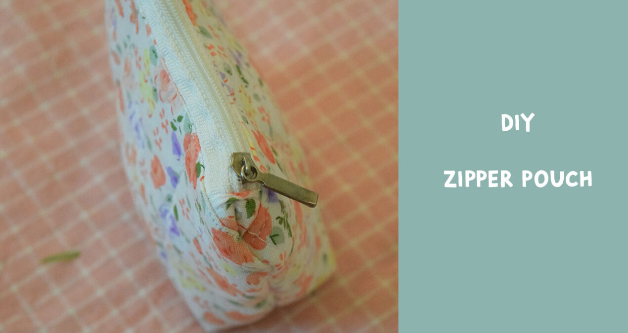 DIY- How to Stitch a Very Easy Fabric Zipper Coin Pouch