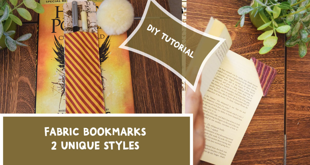 DIY Fabric Bookmarks – Corner Bookmark and Pocket Bookmark – Quick and Easy to Sew for Beginners