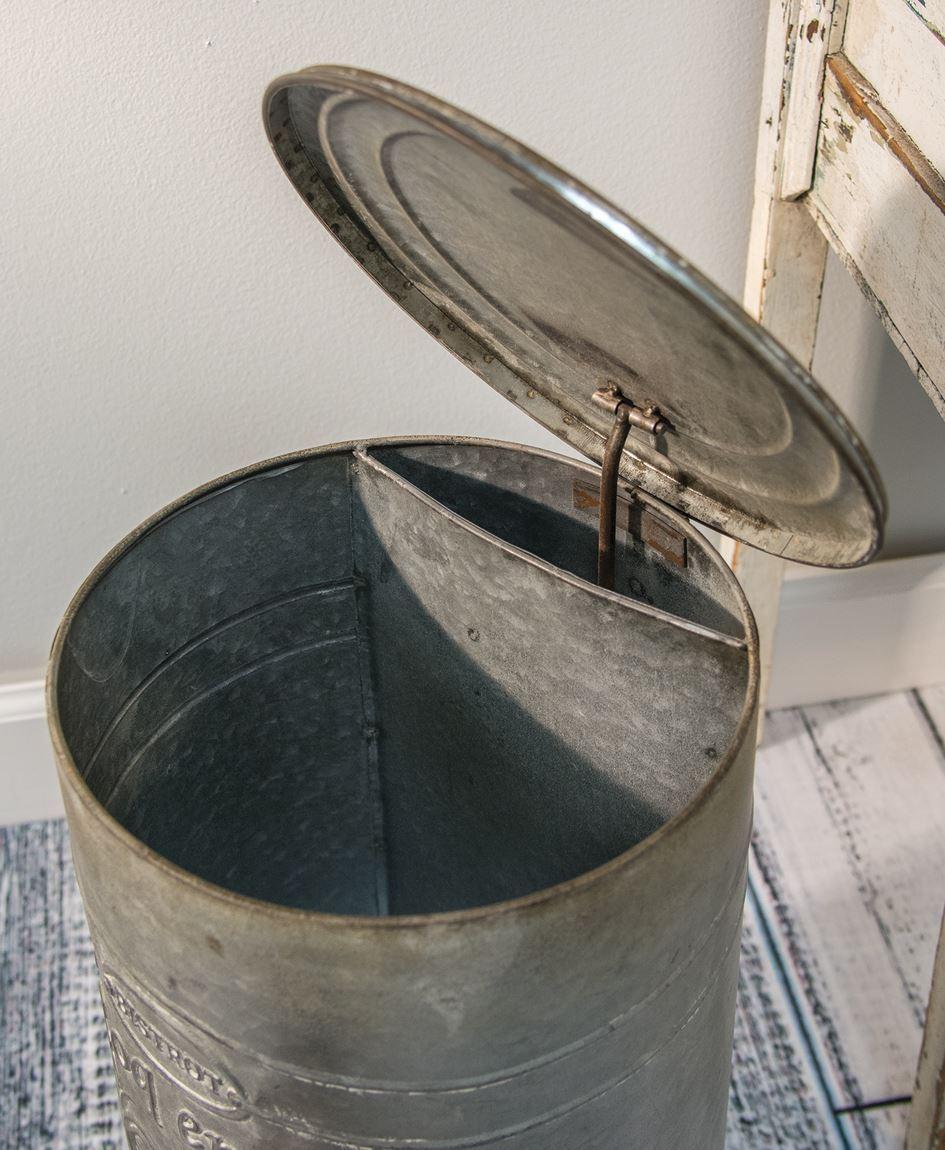 Craft House Designs Wholesale Embossed Metal Trash Bin