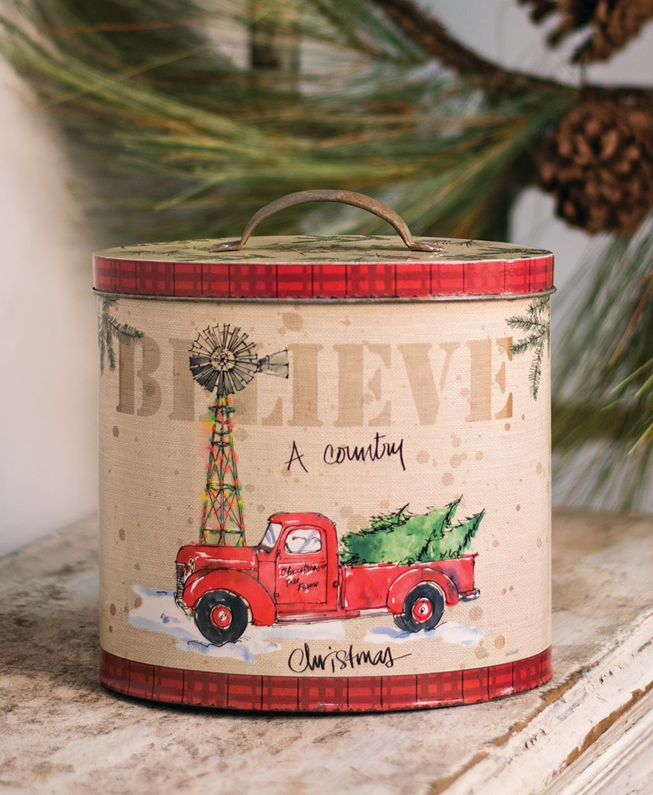 Craft House Designs Wholesale Country Christmas Tin