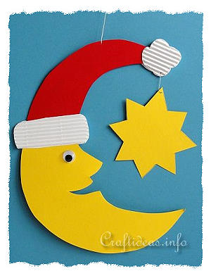 Christmas Crafts For Kids Paper Santa Moon Room Or