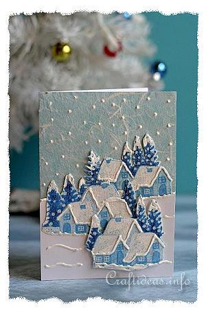 Christmas Card Crafts Fabric Christmas Card 2