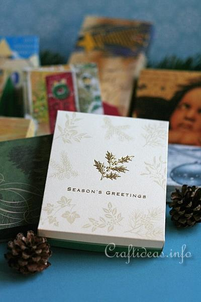 Craft Idea Learn How To Make A Box Out Of Used Christmas