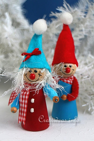 Craft Idea for Christmas - Christmas Elves