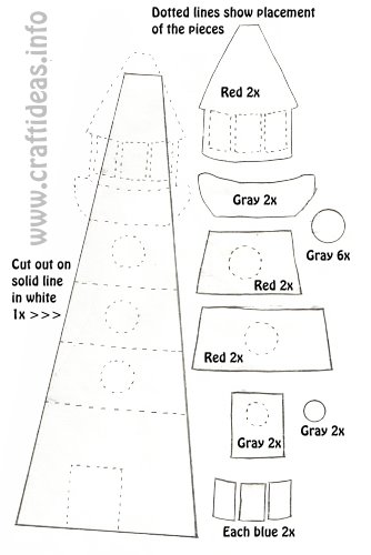 summer crafts and patterns lightouse template