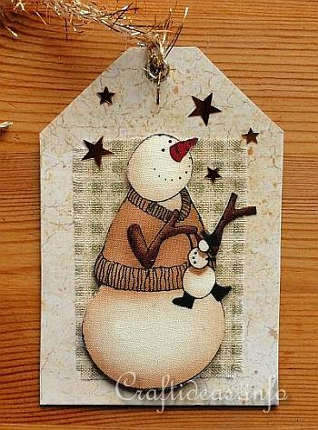 Craft A Christmas Card Snowmen Gift Tags