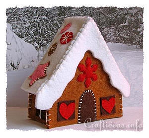 Christmas Craft Project How To Make A Felt Gingerbread House