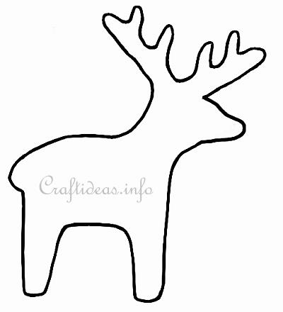 It's just a picture of Printable Reindeer Template within reindeer gift tag