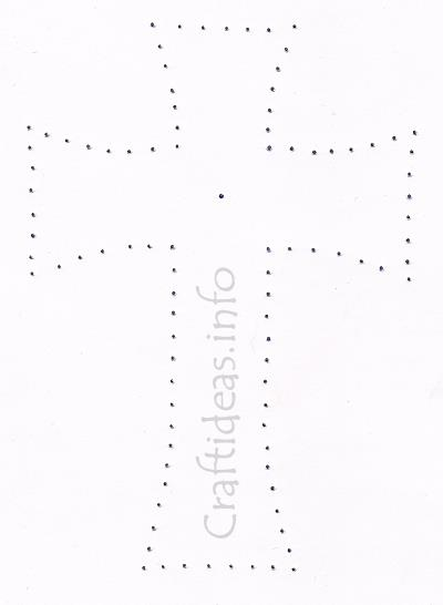 Stitched Cross Template For A Sympathy Card