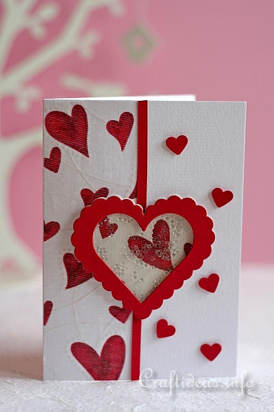 Spring Greeting Cards Valentines Day Shaker Card