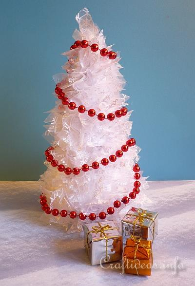 Christmas Craft Project White Cone Christmas Tree
