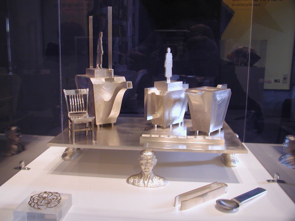 Christina Smith, In Search of Terra Incognito, 2002, Sterling Tea Service at the Fuller Craft Museum